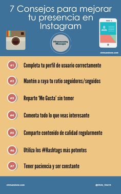 7 consejos para mejorar tu presencia en Instagram #infografia #infographic #socialmedia