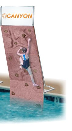Put a rock wall over your pool. How fun! They have a much larger sport version as well.