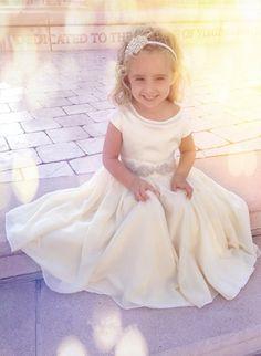 2014 flower girl dresses, Ivory Flower Girl Dress www.loveitsomuch.com