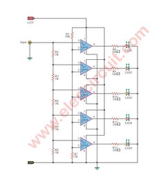 64 best meters \u0026 detectors images in 2019 circuit, electronicssimple led light based music using lm318 dc circuit, light music, electronics projects