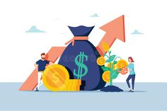 Investment Financial Business People Increasing Capital And Profits. Wealth And Savings With Characters. Earnings Money Stock Vector - Illustration of finance, capital: 136291027 Finance Degree, Finance Jobs, Robot, Motion Design, Earn Money, Collage Art, Wealth, Investing, Clip Art