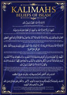 Beliefs Kalma's Of Islam Islamic Teachings, Islamic Messages, Islamic Love Quotes, Muslim Quotes, Religious Quotes, Islamic Dua, Islamic Status, Islamic Prayer, Duaa Islam