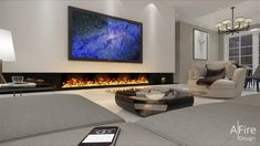 AFIRE high-end smart fireplace, a modern & eco-friendly concept to design your decorative ventless fireplace, ethanol burner, water vapor electric fireplace Fireplace Set, Fireplace Inserts, Living Room With Fireplace, Fireplace Design, Decorative Fireplace, Restaurant Fireplace, Electric Fireplace Insert, Sweet Home, Interior Design