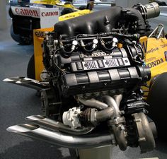 The 1988 F1 engine Honda RAE168E.  This is the engine that caused turbocharging to banned from Formula 1.  NOTHING in F1 could beat the Honda Turbos back in the late '80's.