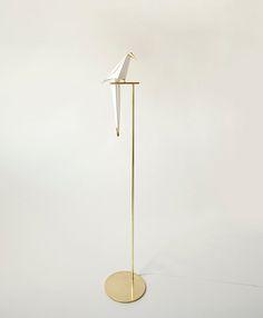 Perched Bird Lamp made by London-based designer Umut Yamac via Fubiz™