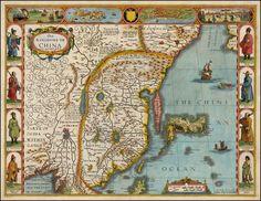 Map of China, 1626.