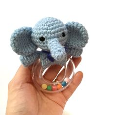 A personal favorite from my Etsy shop https://www.etsy.com/listing/454453862/crochet-baby-rattle-teether-amigurumi
