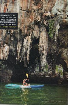 Kayaking (somewhere awesome)
