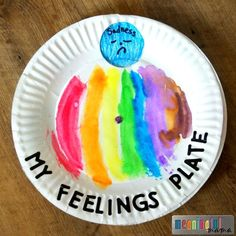 This paper plate feeling spinner is one more tool to help your child identify the emotions they are feeling.