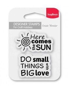 ScrapBerry's: Set of stamps 7*7 cm Sun