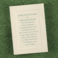 Ecru Paneled Invitation - Wedding Invitations - Wedding Invites - Wedding Invitation Ideas - View a Proof Online - #weddings #wedding #invitations