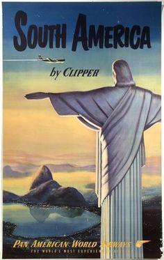 Vintage-Pan-Am-South-America-Poster-A3-A2-Print