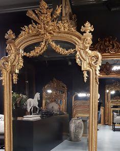 """Inge van Amerongen on Instagram: """"Antique mirrors @therobin.nl…"""" Antique Mirrors, Antiques, Instagram, Moldings, Old Mirrors, Antiquities, Antique, Antiqued Mirror, Old Stuff"""