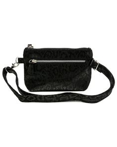 Convertible Hip Bag White Bronze Evening Clutch White Leather Fanny Pack