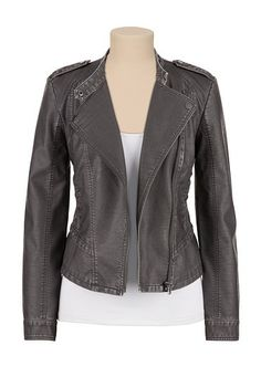 95a9f46e749f asymmetrical zip moto jacket (original price