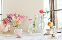 Pretty flowers by Amy Osaba, styling by Ginny Branch - for A Lovely Workshop with Elizabeth Messina