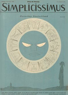 Simplicissimus magazine cover 1932. Horoscop Deutschland.