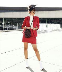 Gabriela Sales look vermelho @ricademarre