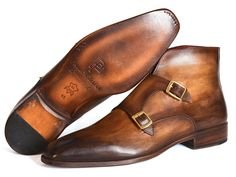 - Men's double monkstrap boots - Brown hand-painted calfskin upper - Antique finished leather sole - Bordeaux leather lining and inner sole This is a made-to-order product. Please allow 21 days for th Hot Shoes, Men's Shoes, Dress Shoes, Mens Shoes Boots, Shoe Boots, Boots Women, Brown Leather Boots, Brown Boots, Gentleman Shoes