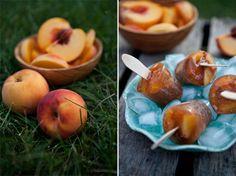 Ginger Peach Iced Tea Popsicles