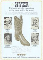 Hyer Boots Rodeo Champions 1966 Ad Picture