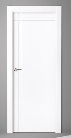 Puertas Lacadas Flush Door Design, Room Door Design, Door Design Interior, Wooden Door Design, Contemporary Interior Design, Bathroom Interior, Modern Interior, Main Entrance Door Design, White Interior Doors