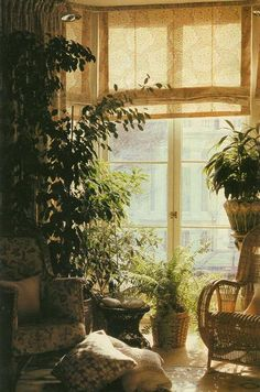 I become relaxed just looking at this, never mind the effect it would have it I put up a similar window shade up in my own place surrounded by various green plants :)