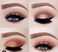 Kylie cosmetics, burgundy palette, black / brown kyliner, makeup, blue eyes.