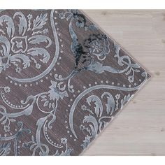 Concord Global Trading Thema Large Damask Teal 6 ft. 7 in. x 9 ft. 3 in. Area Rug