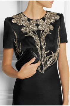 Alexander McQueen | Swarovski crystal-embellished satin gown