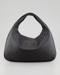 f0c3239dd08 Shop for Large Studded Veneta Woven Hobo Bag, Black by Bottega Veneta at  ShopStyle.