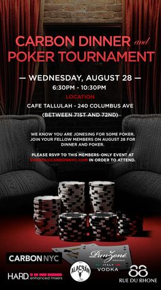 Carbon Dinner and Poker Tournament!