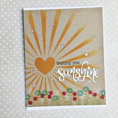Wishing You Sunshine Card by Heather Nichols for Papertrey Ink (May 2016)