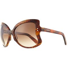 Valentino Oversized Butterfly Sunglasses ($350) ❤ liked on Polyvore featuring accessories, eyewear, sunglasses, tortoise, over sized sunglasses, brown sunglasses, valentino sunglasses, brown glasses and tortoiseshell glasses