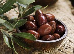 Tasty dark olives