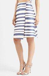 Topshop Stripe Midi Skirt (Nordstrom Exclusive)