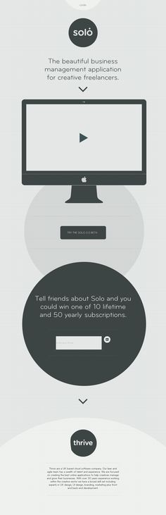 Flat and very minimal design executed well.http://www.thrivesolo.com/
