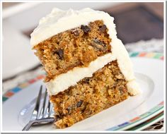 """A moist and flavorful recipe that makes a large quantity of cake. I have been hounded to make this cake time and time again.""  Ingredients     	6 cups grated carrots   	1 cup brown sugar   	1 cup raisins"