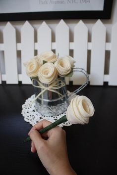 Wedding Guest Book Pens :)  I used to love making these flower pens!