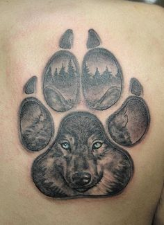 woolf paw tattoo by ~primitive-art on deviantART