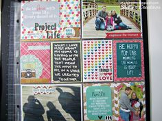 Fun colors for project life layout