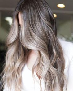 Ash Brown Hair With Highlights, Light Ash Brown Hair, Light Ash Blonde, Ash Brown Hair Color, Beige Hair Color, Ombre Hair Color, Toner On Brown Hair, Blonde Color, Balayage With Highlights