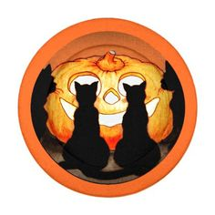 #Four Black Cats and Halloween Pumpkin Button Covers - #Halloween #happyhalloween #festival #party #holiday