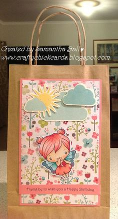 Craftychick Cards: Anyone for Anya? Box or Bag Challenge