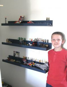 I need about a hundred of these shelves for the boys' room! They <3 Legos