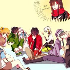 Hibiya, Momo, Shintaro, Konoha, Marry Seto Kano Kido Ayano / Kagerou project / [ Aaaww *A* Kano&Kido ♥ ]
