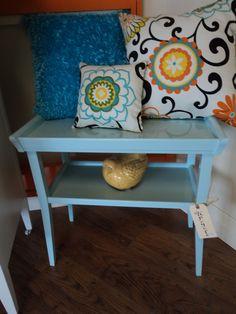 Side table sprayed in Little boy blue by Paint it Like New!