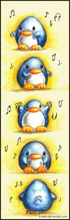 Dancing Penguin by B-Keks on DeviantArt Penguin Life, Penguin Art, Penguin Dance, Chibi, Penguins Of Madagascar, Dibujos Cute, Cute Penguins, Cute Drawings, Cute Pictures