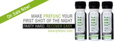 PreFUNC  While most of us don't plan on overdrinking, let's face it—it happens, especially on St. Patrick's Day. Before it's too late to turn back, drink a simple 2 oz. shot of PREFUNC ($5) before or during your day/night out to help alleviate those morning-after symptoms. This small, simple lifestyle-management beverage will help your body recuperate, detox and recover with natural and beneficial ingredients such as Green Tea Leaf, Licorice Root and more.  Look better and feel better…