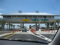 Sanibel Island the $6 toll to get onto causeway and the happy lane, a 3 mile drive to Sanibel